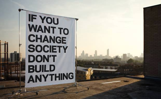 Photo: Peter Guenzel, If you want to change society  don't build anything, London 2005, Volvo Magazine
